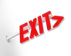 Architectural Safety Components Lelu exit sign by ArchitecturalSafety.com