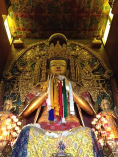 Buddha near Stupa