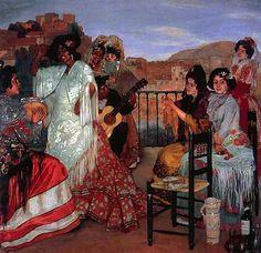 Ignacio ZULOAGA y ZABALETA / Dance on  terrace - Grenade -1922-23
