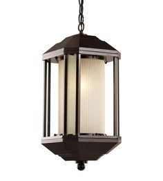 Trans Globe Signature 1 Light Outdoor Hanging Lantern in Rubbed Oil Bronze 40255-ROB #lightingnewyork #lny #lighting