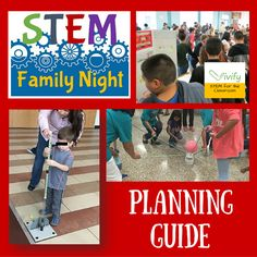 STEM Family Nights are awesome! They generate excitement for STEM in your school and community by allowing students, teachers, and families to explore STEM together in a fun way! Read our guide to planning your own successful STEM Family Night! Family Math Night, All Family, Parent Night, Steam Activities, Science Activities, Family Activities, Science Ideas, Science Lessons, Kindergarten Science
