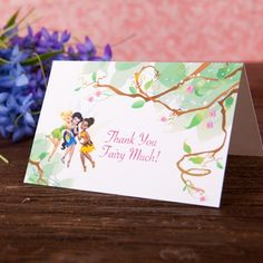 Disney Fairies Thank You Cards, a must-do after a fairy-themed birthday party Walt Disney, Disney Diy, Disney Crafts, Disney Family, Tinkerbell And Friends, Tinkerbell Party, Disney Fairies, Fairy Birthday Themes, Unicorn Birthday Parties
