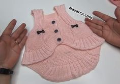 ASKILI VEREV BEBEK BOLERO YAPIMI | Nazarca.com Baby Knitting Patterns, Fingerless Gloves, Arm Warmers, Diy And Crafts, Karma, Crochet, Create, Fashion, Toddler Cardigan