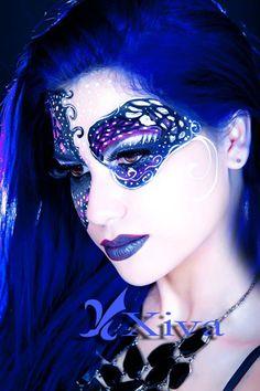 #Blue #makeup