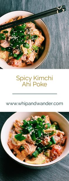This Spicy Kimchi Ahi Poke combines the creamy spice of chili mayo and an additional kick from crunchy kimchi. It's also Paleo, Keto, and SIBO friendly!