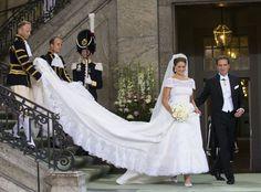 Casamento da princesa Madalena e Chris O´Neill. #casamento #real #Suécia #vestidodenoiva #Valentino