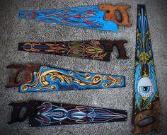 custom painted hand saws - Google Search