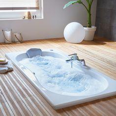 Spa Jacuzzi, Corner Bathtub, My Dream Home, Leroy Merlin, Architecture, Shower, Bathroom, Luxury, Outdoor Decor