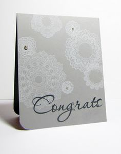 one layer doilies card