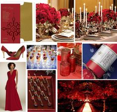 Tastefully Entertaining | Event Ideas & Inspiration: Wedding Wednesday - Luxurious Red & Gold Wedding
