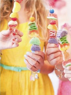 A Charming Over The Rainbow Birthday Party: Candy Kabob Bar Birthday Table Decorations, Birthday Party Tables, Rainbow Birthday Party, Birthday Cakes, Teenage Girls Birthday Party Ideas, Teen Girl Birthday, Sleepover Party, Flamingo Birthday, Unicorn Birthday
