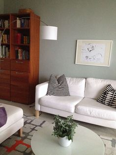 Ausdruck Von Leichtigkeit, Eleganz Und Ruhefördernder Klarheit Im Wohnzimmer:  Alpina Feine Farben: Inspirationsboard