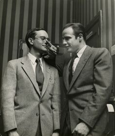 Marlon Brando and TV actor Wally Cox: pals growing up in Omaha, Nebraska, early roommates in NYC. Cox died decades before Brando. Marlon then kept Cox's cremated ashes in his master bedroom(s) until his own death...