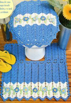 Knitting Crochet - Charts: Set of Bathroom