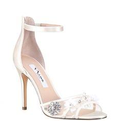77bdb6bb24 Clarity-ivory satin. Nina Shoes