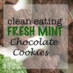 Healthy Fresh Mint Chocolate Cookies