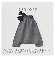 and baby style muku, gray jumpsuit-OMG mom! Make me this! exactly the same! IF its a girl! Make me this! exactly the same! IF its a girl! Fashion Kids, Baby Girl Fashion, Baby Jumpsuit, Baby Dress, Sewing For Kids, Baby Sewing, Little Girl Dresses, Kind Mode, Kids Wear