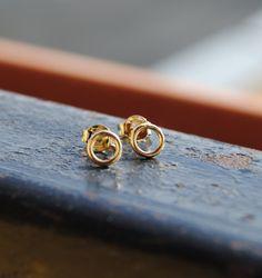Náušnice zlaté krúžky Stud Earrings, Jewelry, Jewlery, Jewerly, Stud Earring, Schmuck, Jewels, Jewelery, Earring Studs