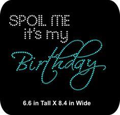 Rhinestone Bling Iron-on Transfer Applique - Birthday Girl - GNO - Girls  Night Out 9199690df57a