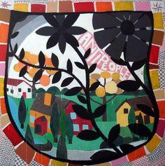 Antonio Ballester Moreno ritorna ai rudimenti dipingendo come un bambino, scarabocchiando triangoli e picchettando, in modo ripetitivo, punt...