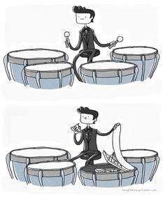 #musichumor Cooper... I eat your pistachios... The bass drum doesn't.