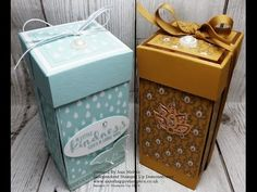 Drop Fronted Candle Gift Box Stampin Up! - YouTube