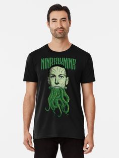 'HP Lovecraft Cthulhu' Premium T-Shirt by Ikaroots Lovecraft Cthulhu, Hp Lovecraft, Tapestry, Wall Tapestries, Tentacle, Dark Fantasy, Alternative Fashion, Laptop Cases, Phone Cases