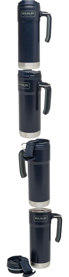 Drink Containers and Thermoses 177006: Stanley Coffee Thermos Vacuum Mug Bottle Stainless Steel Hammerton Navy 20Oz New -> BUY IT NOW ONLY: $34.06 on eBay! Stanley Cooler, Coffee Thermos, Drink Containers, Lunch Box, Stainless Steel, Navy, Mugs, Drinks, Bottle