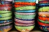 Colorful, decorative Turkish bowls for sale near Cappadocia,..