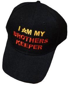 f73031e9 Mason Hat Black Baseball Cap I AM MY BROTHERS KEEPER with Masonic Logo  Freemasons Shriners Prince Hall Lodge Headwear