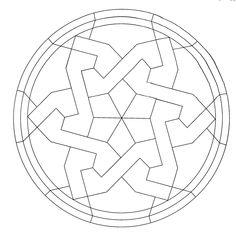 Mandalas para colorear estrella geometrica