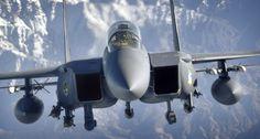 f15 eagle closeup in flight