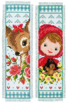 Marcador: Bambi y Caperucita Roja (2) de Vervaco - Disney by Vervaco - Kits Bordado - Casa Cenina