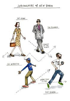 The Four Types of Jaywalkers: An Illustrated Morphology of Bad Pedestrians circa 1924 | Brain Pickings