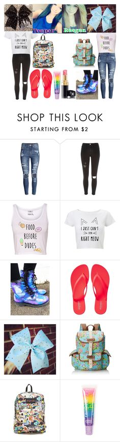 """""""Best Franns"""" by kitty-kat-girl ❤ liked on Polyvore featuring H&M, River Island, Old Navy, Brinley Co, Wild Pair, JanSport, claire's and Chanel"""