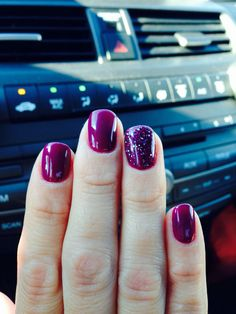 Plum gel polish. Winter. Fall. Color. Love nail color.