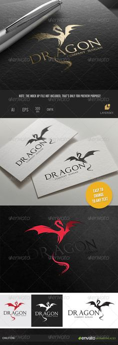 Dragon Logo Template #design #logotype Download: http://graphicriver.net/item/dragon-/8029007?ref=ksioks