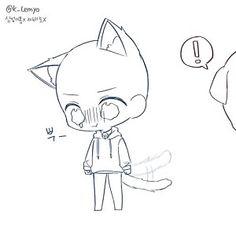 Chibi Sketch Anime - My Website 2020 Chibi Sketch, Anime Sketch, Sketch Art, Chibi Anime, Chibi Cat, Bts Chibi, Kawaii Anime, Drawing Base, Manga Drawing