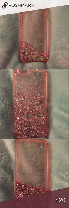 ban.do pink moving glitter iPhone 6/6s phone case Such a fun case! Just shake it up and watch the glitter move! ban.do Accessories Phone Cases