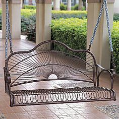 nice - add cushions & throw pillows against back of porch swing- VERY NICE!
