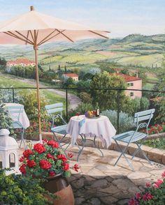 Barbara ROSBE FELISKY ~ Wine on the Terrace