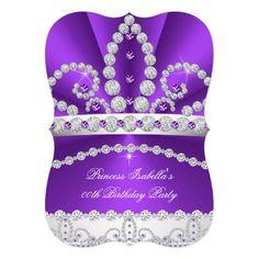 Princess Purple Diamond Tiara Birthday Party 2