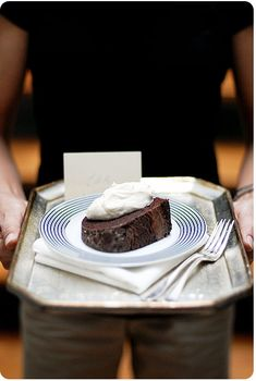 Deep Chocolate Sour Cream Pound Cake