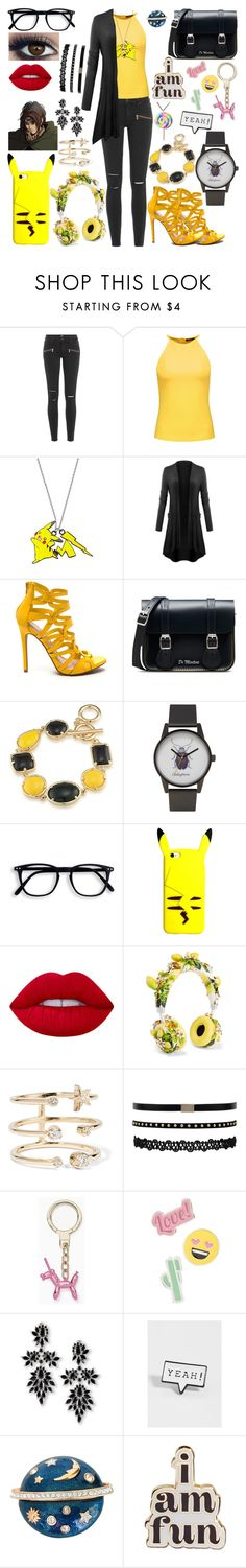 """""""Hanji Zoe"""" by vampirekitty34 ❤ liked on Polyvore featuring Paige Denim, Raoul, Dr. Martens, 1st & Gorgeous by Carolee, Make, Lime Crime, Dolce&Gabbana, Andrea Fohrman, Kate Spade and Red Camel"""