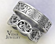 Welcome Vidar Jewelry by roi avidar! Specializing in Custom Diamond&GemStone, Engagement Rings&Wedding Ring Sets. Unite your hearts forever with this stunning His and Hers Wedding Bands Set.What girl could say no to a beauty like this! PAYMENT PLAN- Click Here To Find The #weddingbands #weddingring