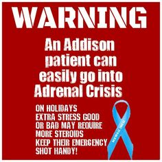 Warning Addisons Disease