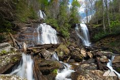 Hike the paved Anna Ruby Falls Trail to the beautiful, rare double waterfalls at Anna Ruby Falls near Helen. This hike trails a waterfall-filled creek, and is kid-friendly, stroller-friendly and dog-friendly, too. State Parks, Hiking In Georgia, Waterfall Trail, Winter Hiking, Need A Vacation, Beautiful Waterfalls, Appalachian Trail, Hiking Trails, Nature Photos