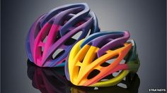 printed cycle helmets