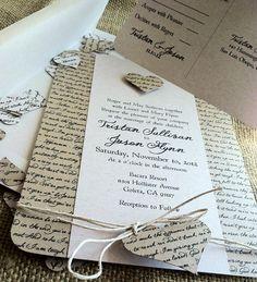 RUSTIC Wedding Invitation - love the writing on it