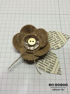 Burlap Flower tutorial - Modge Podge the back of the fabric and let it dry before cutting the circles. Nice and neat with no fraying!